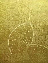 Metallic Vinyltapete Tapete Barock Retro glanz # gold # Kingwelson # 240901