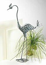 Metallkranich Gartendeko Garten Figur Deko Kranich aus Metall
