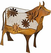 Metallkuh Gartendeko Deko Kuh aus Metall
