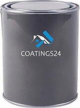 Metalllack Metallfarbe Buntlack seidenmatt verschiedene Farben | Farbe für Metall Stahl Eisen für Innen und Außen | Metallbeschichtung für Tor, Zaun, Industrie Container | 1L, Beige
