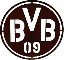 Metallmichl BVB Logo aus Edelrost zum Hängen Ø