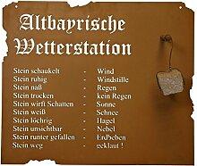Metallmichl Edelrost Altbayerische Wetterstation