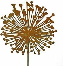 Metallmichl Edelrost Blumenstecker Allium 15cm