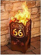 "Metallmichl Edelrost FEUERKORB ""Route 66"""