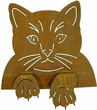 Metallmichl Edelrost Katze Rost Katzenkopf zum