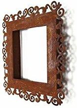 Metallmichl Edelrost Rahmen Ravenna 50 x 50 cm