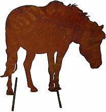 Metallmichl Edelrost Rosttier Bauernhof Pferd