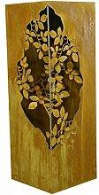 Metallmichl Edelrost Säule mit Blätternranken