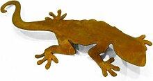 Metallmichl Edelrost Salamander - Rost Eidechse rostige Gartendeko Teichdeko (Groß 30 cm x 15 cm)