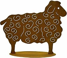 Metallmichl Edelrost Schaf groß 56 x 70 cm
