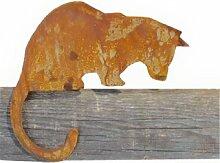 Metallmichl Katze für Kante nach unten schauend