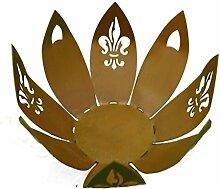 Metallmichl Schale Blüte mit Lilien-Ornamenten