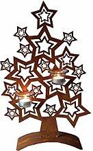 Metallmichl Sternenbaum 50 cm hoch für Teelichter