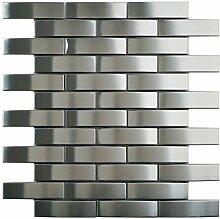 Metallmosaik Fliesen grau poliert Wand Boden