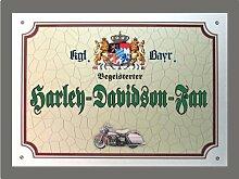 Metallschild Harley-Davidson-Fan - Schild Bayern