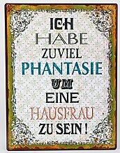 Metallschild mit Spruch, 35 cm, mehrfarbig