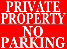 Metallschild Private Property - No Parking Parking