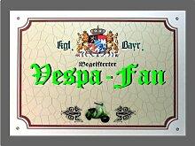 Metallschild Vespa Fan - Schild Bayern (XXL 36 x