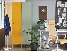 Metallschrank Gelb Metall 185 cm hoch Modern
