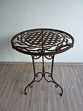 Metalltisch Beistelltisch Blumenhocker Klapptisch Tisch Metall Eisen rund WK071291