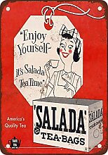 metalsigns 1956SALADA Teebeutel Vintage Look