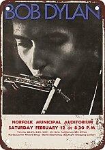 metalsigns Blechschild Bob Dylan in Concert at
