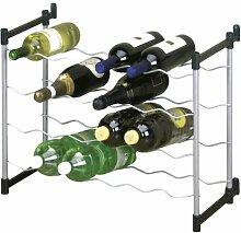 Metaltex 383724039 Flaschenregal für 24 Flaschen