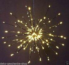 Meteorstern Schneeflocke 80 LED Adventsstern Ø 40