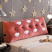 Meters Kissen am Bett Kristallkissen Doppelbett Große Kissen Sofas mit großen Rückenlehnen ( Farbe : Clouds A , größe : 120*22*50cm )