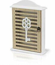 Metradex Schlüsselkasten aus Holz mit 6