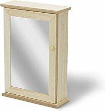 Metradex Schlüsselkasten aus Holz mit Spiegel im