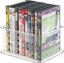 MetroDecor mDesign stapelbare DVD Aufbewahrungsbox