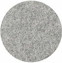 Metz Filzuntersetzer rund, 20 cm Farbe Silbergrau