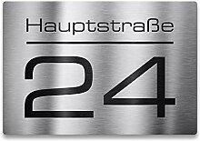 Metzler Edelstahl Hausnummer - Hausnummernschild