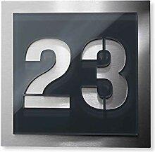 Metzler Hausnummer-Platte - anthrazit - aus
