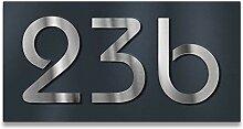 Metzler Hausnummer-Schild in Anthrazit - mit 3D