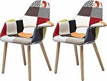 Meubletmoi 2Stück Sessel aus Stoff Patchwork