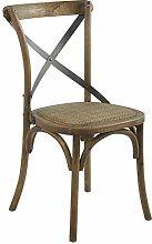 Meubletmoi Stuhl aus Massivholz und Kreuz aus
