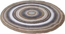 Meusch 2253271518 Badteppich Mandala, 80 cm rund, taupe