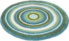 Meusch 2253672307 Badteppich Mandala, 60 cm rund, türkis