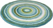 Meusch 2253672518 Badteppich Mandala, 80 cm rund, türkis