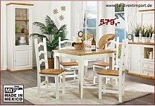 MEXICO Esstisch Tisch, Holz: Pinie, Marmor Mosaik,