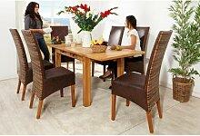 Mexico Tisch Esstisch 120x80cm, ausziehbar, Pinie