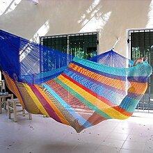 Mexikanische Netzhängematte in bunt Regenbogen in XXXL Familien Hängematte