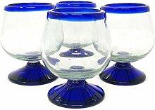 Mexikanisches mundgeblasenes Glas - 4 Stück