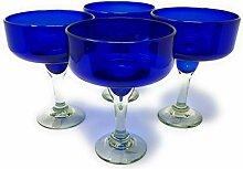 Mexikanisches mundgeblasenes Glas – 4 Stück