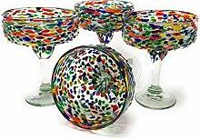 Mexikanisches mundgeblasenes Glas - 4er Set