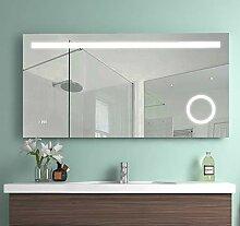 Meykoe 120x60x4,5cm LED Beleuchtung Badspiegel,