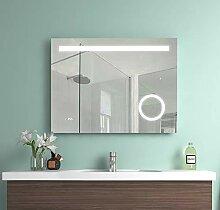 Meykoe 80x60x4,5cm LED Beleuchtung Badspiegel,