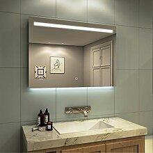 Meykoe Badspiegel LED Beleuchtung 100x70x4,5cm mit